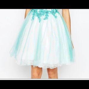 Forever unique Winnie Aqua Mini Prom Dress
